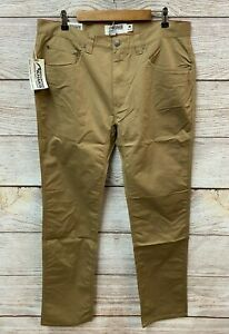 Mountain Khakis Pants Mens Size 38X34 D Khaki LoDo Slim Tailored Fit Stretch New