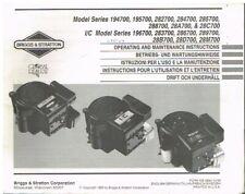 BRIGGS & STRATTON 19xxxx & 28xxxx SERIE 1-CYL ENG. ORIG. 1993 OPERATORS HANDBOOK