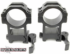 Weaver rail quick release high profile rifle scope mounts / 30mm scope rings