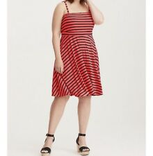 Torrid Black Pink Bright Stripe Tube Dress Plus Size 1 New A168