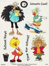 Suzys Zoo Scrapbooking Stickers 25 Sheets School Days Cool Time for School