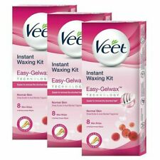 Veet Instant Waxing Kit Easy-Gelwax for Normal Skin  8 Strips