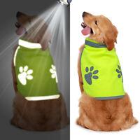 Reflective Dog Safety Vest Clothes Small Large High Visibility Jacket Hi Vis Viz