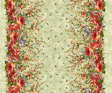 Green Double Border floral Belle Epoque by Maywood BTY 9872-G fabric