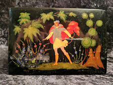 "VINTAGE LACQUER BOX PALEKH  ""THE TALE OF TSAR SALTAN"""