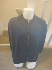 RAPHA Lightweight Full Zip Cycling Back Pockets Jacket Dark Blue 2XL *New*