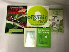 5x Mixed Gardening Books Pruning & Pest Control Without Chemicals Organic Year
