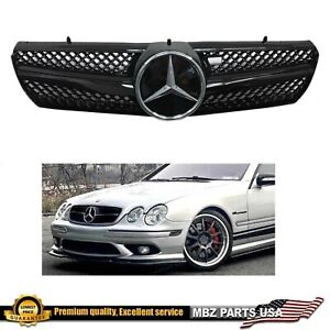 CL GRILLE ALL BLACK CL500 CL600 CL55 W215 MERCEDES ACCESSORY CHROME STAR BUMPER