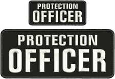 PROTECTION OFFICER EMBRIDERY PATCH 4X10 AND 2X5  hook on back