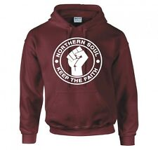 "NORTHERN SOUL ""KEEP THE FAITH"" HOODIE NEW"
