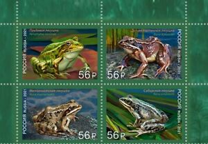 2021 Russia. Stamps. Fauna of Russia. Frogs. MNH