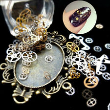 STEAM PUNK MANICURE CHARMS RETRO' per UNGHIE NAIL ART MEAL NOTCHED WHEELS JEWEL