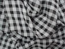 Black / White Check Printed Polyester Chiffon Fabric