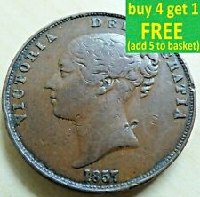 Queen Victoria 1 One Penny Coin, each has own pictures, Choose Yours 1851-1901,