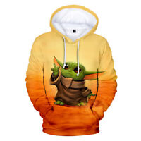 Star Wars The Mandalorian Baby Yoda Hoodies Sweatshirts Cosplay Hooded Jacket