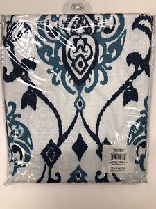 Better Homes And Gardens Damask Indigo 2 Curtain Panels 52x63 Rod Pocket