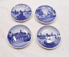 """Royal Copenhagen Aluminia Collector Plates, 1960'S, Denmark, Lot Of 4, 3-1/4"""""""