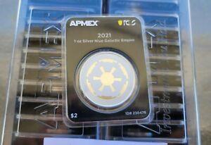 2021 Niue 1 Oz Silver $2 Galactic Empire Star Wars (MD® Premier + PCGS FS)