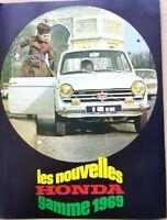 brochure publicitaire/ VOITURES HONDA /6 pages/ en 1969/ref. 65609