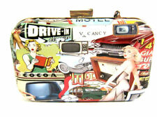Ella Ladies Pop Art Clutch Bag 2 Designs 73028 Motel