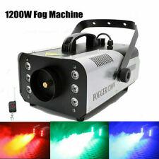 1200W Smoke Fog Machine Stage Lighting Rgb Led Effect Remote Dj Disco Party Show