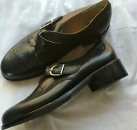Ariat Oxford Leather Shoes Black Buckle Strap Women's Size US 6