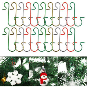 10 x Christmas Tree Bauble Ornament S-shaped Hanging Hooks Metal Hanger