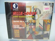 Villa-Lobos: STRING QUARTETS, V-1 (1,6, & 17), Cuarteto Latinoamerico Dorian NEW