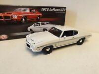 ACME MODELS - 1972 LE MANS GTO - WHITE   PAINT - 1/18 SCALE MODEL  - A1801211