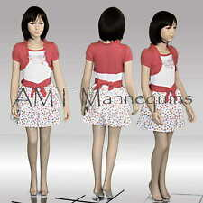 Child girl / boy mannequin,dispay manequin, hand made fiber glass manikin- Trey