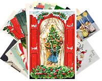 Postcards Pack [24 cards] Vintage Christmas Kids Beautiful Ladies Santa CF7007