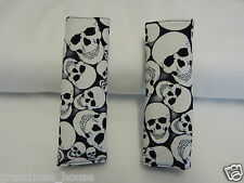 Skulls Glow In The Dark Padded Baby Seat Belt Strap Covers Stroller Pram Chair