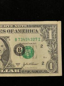 "AWESOME!!! $1 ""MAJOR SEAL SHIFT ERROR"" (NEW YORK) $1 ""SHIFT ERROR"" (2003) RARE!"