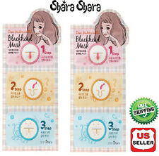 2 pcs. Shara Shara Black Head 3 Step Kit Clear Remove Mask Pack, Korean Cosmetic