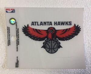 """Atlanta Hawks 3"""" x 4"""" Small Static Cling - Truck Car Window Decal NEW NBA"""