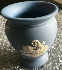 WEDGWOOD JASPERWARE URN VASE - BLUE - AURORA AND PEGASUS