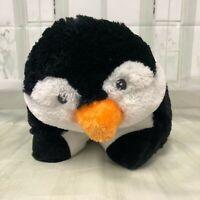 Pillow Pets stuffed penguin large  plush toy black white and orange