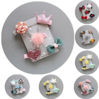 5Pcs Hairpin Baby Girl Kids Infant Hair Clip Bow Flower Mini Barrettes Star Exqu