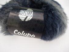 Lana Grossa colupoin Extravagante ocultar 50g color 3 Negro Azul Azul Oscuro