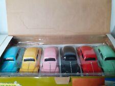1/24 vintage set 6 pieces vw volkswagen kever beetle cox coccinelle diecast box
