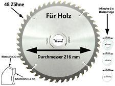 Sägeblatt Kreissägeblatt Hand Kreissäge 216 x 30 mm x 48 Z Kapp Tauch Säge Blatt