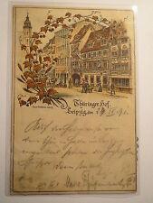 Leipzig - Thüringer Hof - 1891 - diverse Zirkel / Studentika