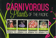 Micronesia 2012 MNH Carnivorous Plants Pacific 4v M/S Pitcher Plant Stamps