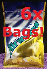 6x HONEY LEMON Airwaves LARGE PACKS 120x Pcs 168g Chewing Gum Wrigley's Menthol