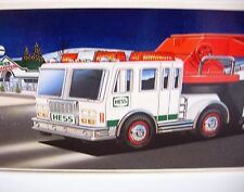 HESS Emergency FIRE TRUCK Extension Hook & Ladder  Lights Sounds 2000 New in Box