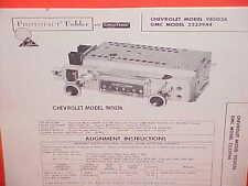 1961 CHEVROLET GMC PICKUP TRUCK APACHE 95 CORVAIR CORVAN AM RADIO SERVICE MANUAL