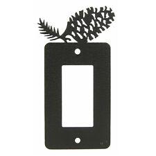 Pinecone black metal GFCI rocker light switch plate cover