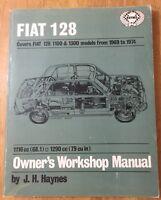 Fiat 128 Repair Manuals. Haynes And Fiat Factory Original Repair Manuals. (2)