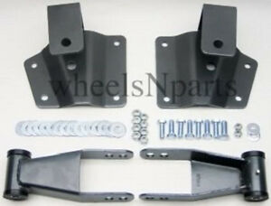 """4"""" Drop Kit Rear Shackles & Hangers Fits 1999-06 Chevy Silverado GMC Sierra 1500"""