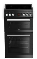 BEKO FREESTANDING ELECTRIC COOKER WITH CERAMIC HOB IN BLACK